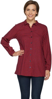 Joan Rivers Classics Collection Joan Rivers Checkered Swing Style Shirt
