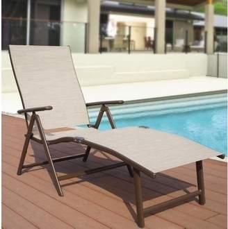 Winston Porter Otterbein Aluminum Reclining Chaise Lounge