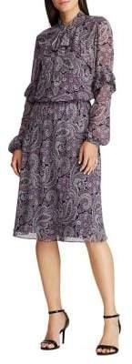 Lauren Ralph Lauren Paisley-Printed Georgette Dress