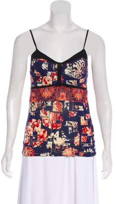 Just Cavalli Sleeveless Floral Top