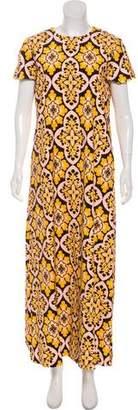 La DoubleJ Printed Short Sleeve Maxi Dress