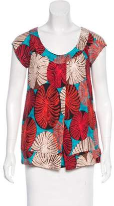 Diane von Furstenberg Silk Short Sleeve Top