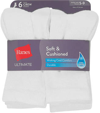 Hanes 6 Pair Crew Socks - Womens