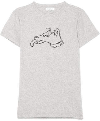 Bella Freud Printed Stretch-cotton Jersey T-shirt - Gray