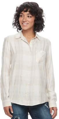 Mudd Juniors' Plaid Flannel Shirt