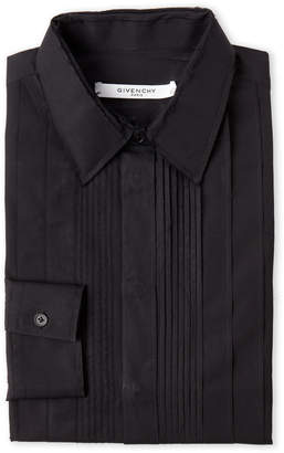 Givenchy Black Distressed Tuxedo Shirt