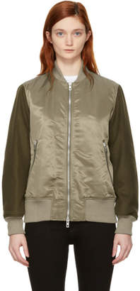 Rag & Bone Green Elle Bomber Jacket