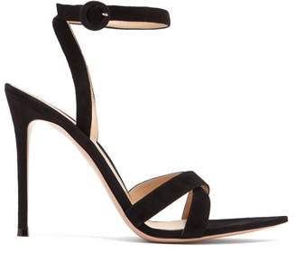 Gianvito Rossi Alixia 105 Suede Sandals - Womens - Black