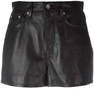 CK Calvin Klein mini leather skirt
