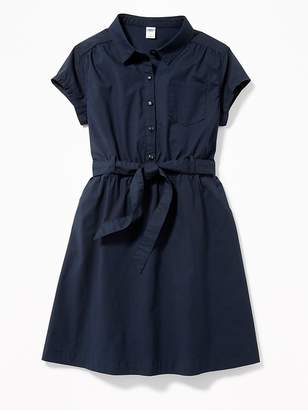 Old Navy Uniform Tie-Waist Shirt Dress for Girls
