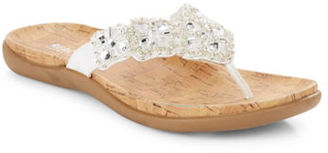 Kenneth Cole Reaction Glam-Athon Embellished Thong Sandals $39 thestylecure.com