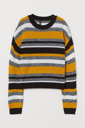 H&M Jacquard-knit Sweater - Yellow