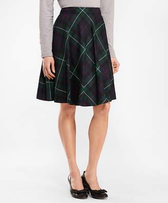 Brooks Brothers Tartan Wool Twill Circle Skirt
