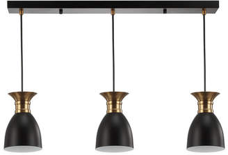 Jonathan Y Designs Edison Linear 3-Light Metal Led Pendant