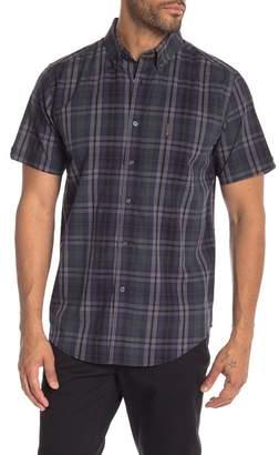 Ben Sherman End On End Plaid Print Short Sleeve Shirt