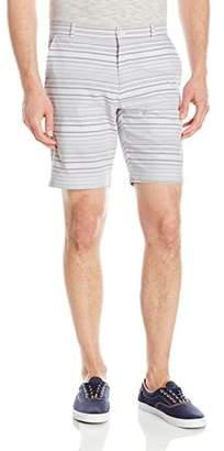 """Calvin Klein Men's 9"""" Herringbone Horizontal Stripe Short"""