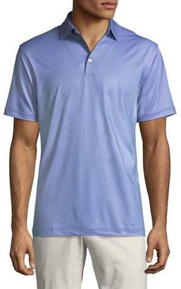 Peter Millar Men's Micro Links-Print Stretch Jersey Polo Shirt