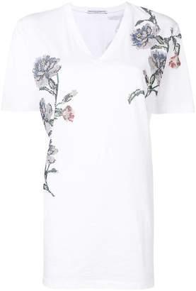 Ermanno Scervino gemstone embellished floral T-shirt