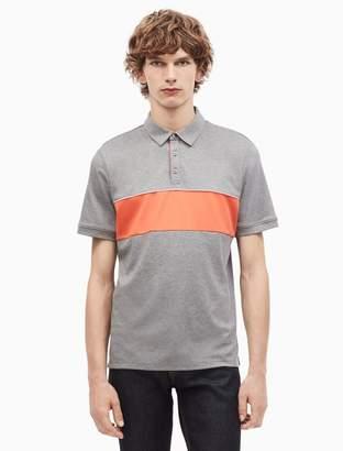 Calvin Klein regular fit liquid cotton tipped polo shirt