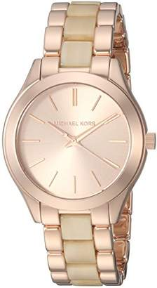 Michael Kors Women's 'Mini Slim Runway' Quartz Stainless Steel Casual Watch
