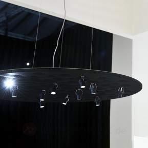 Schwarze Designer-Hängeleuchte Silent Field m. LED