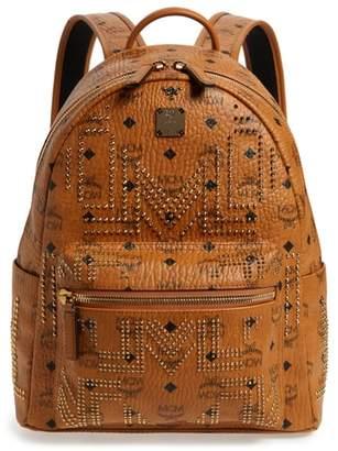 MCM Small Gunta Visetos Stud Coated Canvas Backpack
