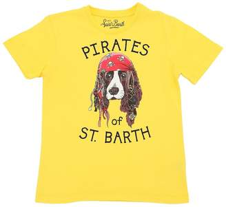 MC2 Saint Barth Dog Sparrow Print Cotton Jersey T-Shirt