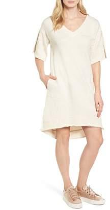 Caslon Lace-Up T-Shirt Dress