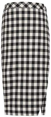 Banana Republic JAPAN EXCLUSIVE Buffalo Plaid Wrap-Effect Pencil Skirt