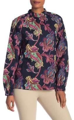 Tibi Paisley Print Cotton Shirt