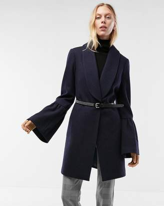 Express Bell Sleeve Shawl Collar Coat