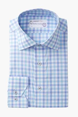 Lorenzo Uomo Large Check Trim Fit Dress Shirt