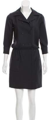 Les Prairies de Paris Virgin Wool Mini Dress