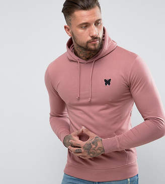 Asos Good For Nothing Hoodie In Pink with Chest Logo Exclusive To