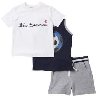 Ben Sherman 3-Piece Shirt, Tank & Short Set (Baby Boys)