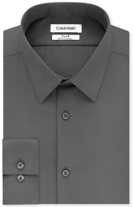 Calvin Klein Men's Steel Slim-Fit Non-Iron Performance Perfect Collar Solid Dress Shirt