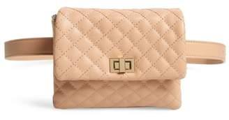 MALI AND LILI Mali + Lili Quilted Vegan Leather Belt Bag
