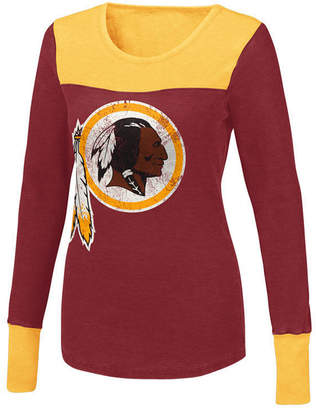Redskins Touch By Alyssa Milano Women's Washington Blindside Thermal Long Sleeve T-Shirt