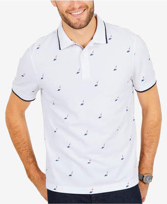 Nautica Men's All Over Racer Polo, Created for Macy's
