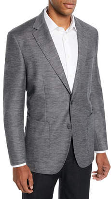 BOSS Men's Heathered Patch-Pocket Blazer Jacket