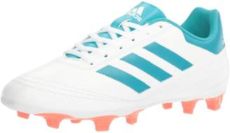adidas Women's Goletto VI FG W Soccer Shoe, White/Energy Blue Easy Coral S