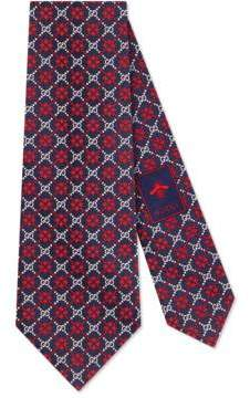 Gucci GG diamond silk tie