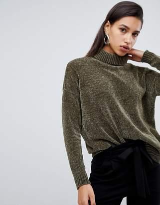 Vero Moda Chenile Roll Neck Knitted Sweater