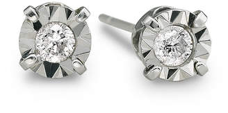 JCPenney FINE JEWELRY 1/5 CT. T.W. Diamond Stud Earrings 10K White Gold