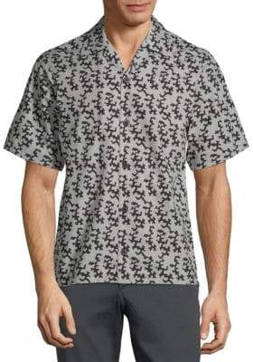 Prada Cotton Abstract-Print Shirt