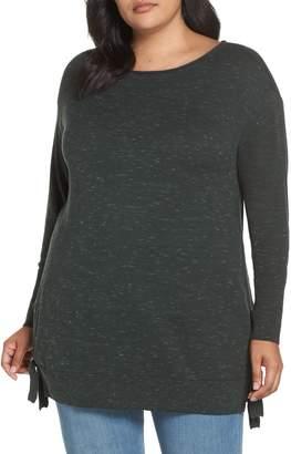 Caslon Side Tie Detail Cotton & Wool Sweater