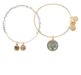 Alex and Ani Art Infusion Claddagh II Beaded Expandable Wire Bracelet Set