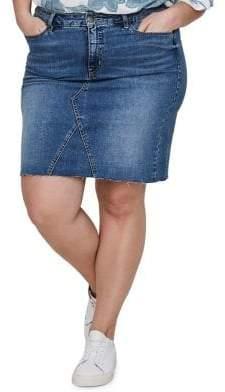 Junarose Plus Sanne Denim Above The Knee Skirt