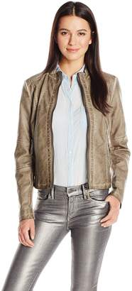 Moto Sebby Collection Women's Pu Faur Leather