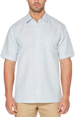Cubavera Subtle Plaid Dobby Shirt